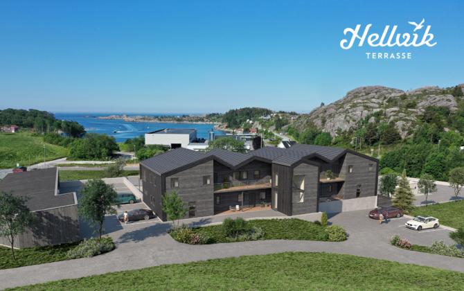 5 av 7 leiligheter er allerede solgt i Hellvik Terrasse